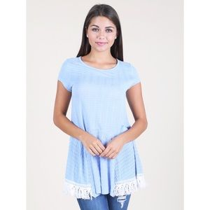 Altar'd State Tunic Top Size Small Periwinkle Blue